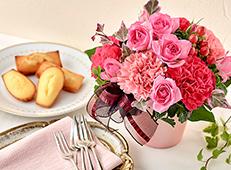 スイーツ・グルメとお花のセット