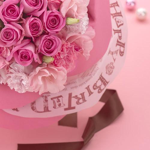 バラの形の花束ペタロ・ローザ「バースデーギフト」
