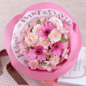 バラの形の花束ペタロ・ローザ「ハッピーバースデー」の商品画像