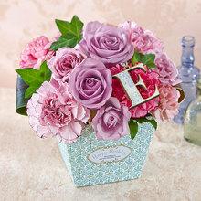 HAPPY BIRTHDAY イニシャルアレンジメント「E」