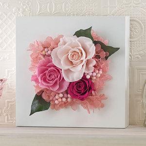 プリザーブド&アーティフィシャルアレンジメント「ローズブロッサム・ピンク」(ホワイト)