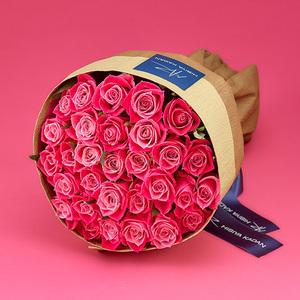 30本のピンクバラの花束「アニバーサリーローズ」の商品画像
