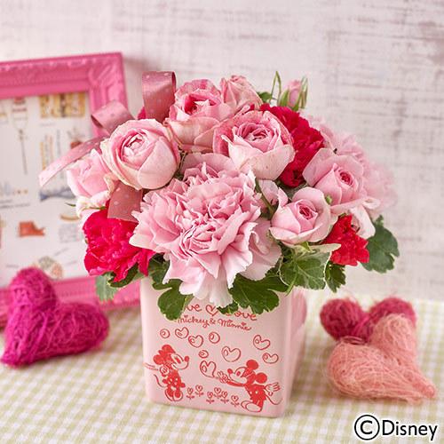 日比谷花壇【日比谷花壇】ディズニー アレンジメント「Love Love Pink(ミッキー&ミニー)」