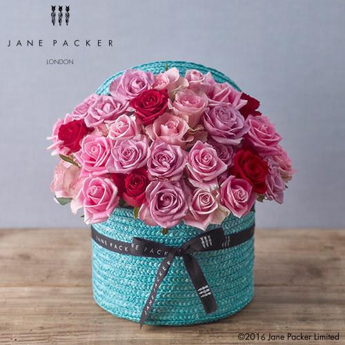 JANE PACKER アレンジメント「ターコイズローズ」