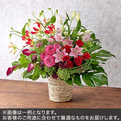 アレンジメントLサイズ(レッド・ピンク系)