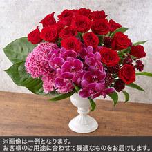 アレンジメントLLサイズ(レッド・ピンク系)