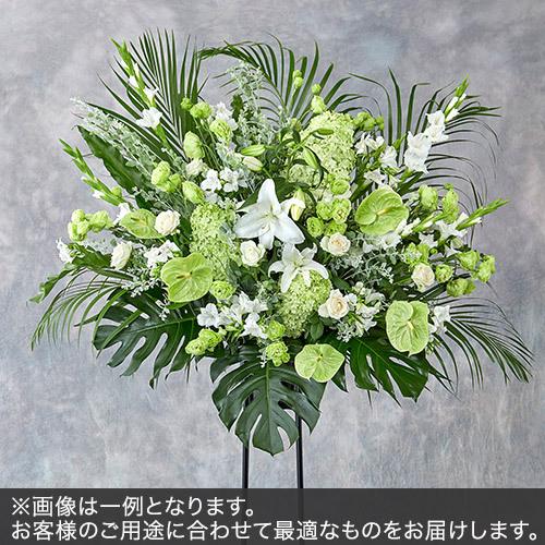 1段スタンド花Lサイズ(グリーン・ホワイト系)