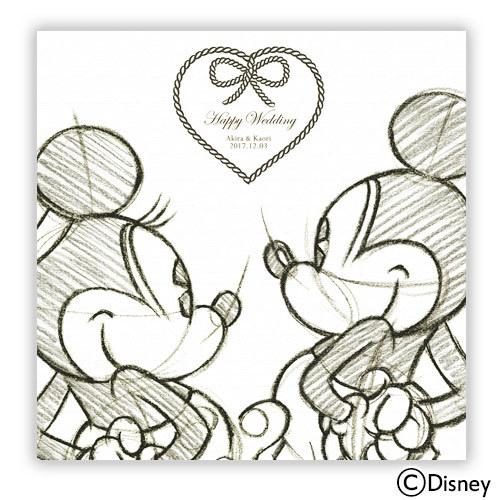 ディズニー ウェルカムボード「記念のスケッチ」(ミッキー&ミニー)