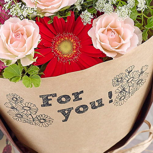 メッセージブーケ「For you(レッド)」