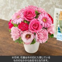 おまかせアレンジメント「ピンク・ローズ系」