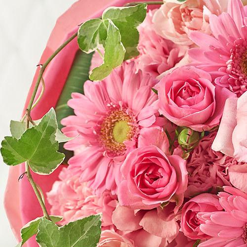 おまかせ花束「ピンク・ローズ系」