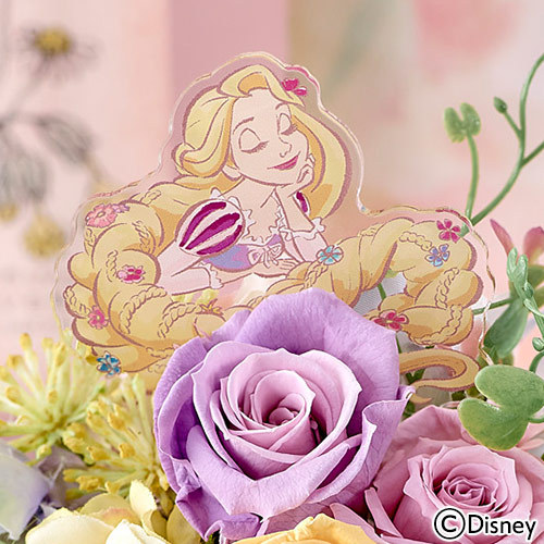 ディズニー プリザーブド&アーティフィシャルアレンジメント「フルール・ド・ソレイユ(ラプンツェル)」