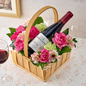 ハーフワインとアレンジメントのセット