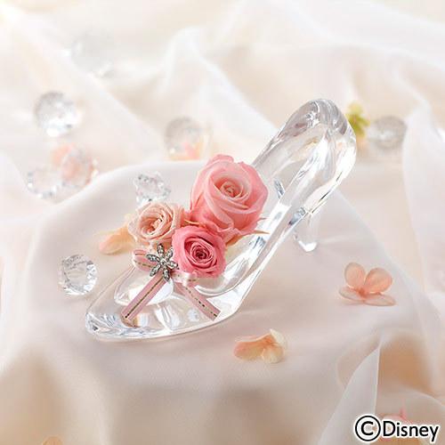 ディズニー プリザーブドアレンジメント「シンデレラの靴(ブリリアントピンク)」