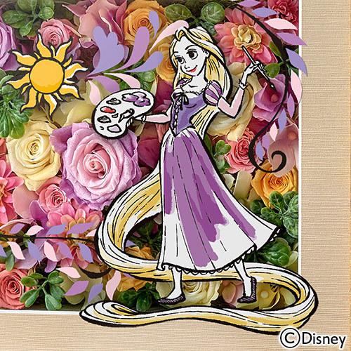 ディズニー フラワーフレームアート「Artistic Princess(ラプンツェル)」