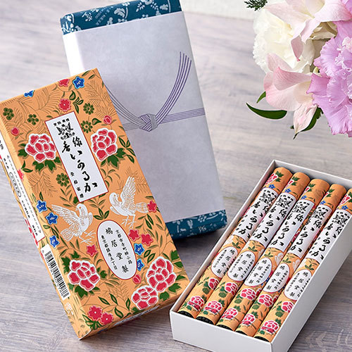 【お供え用】鳩居堂「お線香いかるが」とアレンジメントのセット