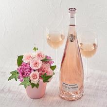 コート・デ・ローズ ロゼワインとアレンジメントのセット