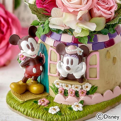 ディズニー プリザーブド&アーティフィシャルアレンジメント「ミッキー&ミニー スイートタイム」