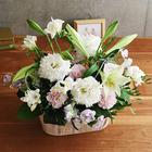 【お供え用】O・SO・NA・E flower 「1月のウッドボックスアレンジメント」