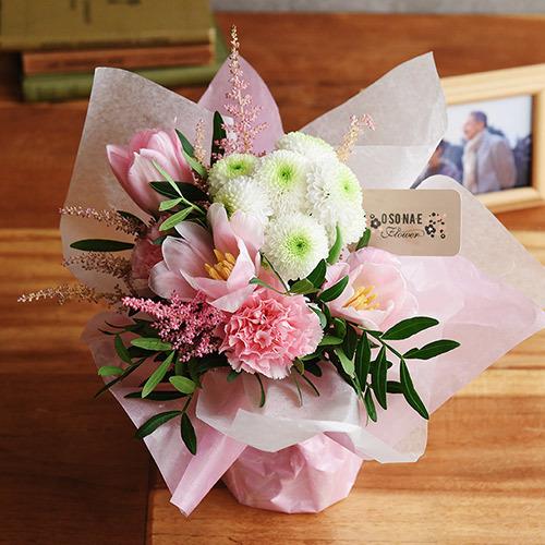 【お供え用】O・SO・NA・E flower 「2月のそのまま飾れるブーケ」