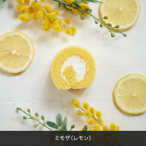 ヒビヤカダンスイーツ「お花畑のロールケーキ」