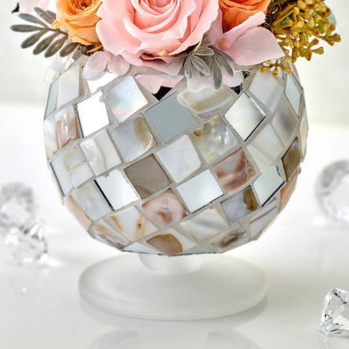 4月のバースストーンプリザーブド&アーティフィシャルアレンジメント「ダイヤモンド」