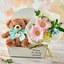 「3月のバースデーベア」と花束のセット