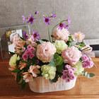 【お供え用】O・SO・NA・E flower 「4月のウッドボックスアレンジメント」