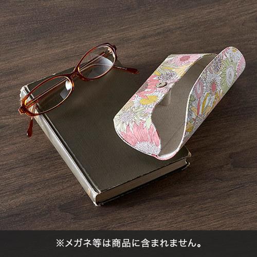 母の日 リバティプリント「メガネケース」と花束のセット
