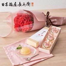 母の日 日本橋屋長兵衛「江戸桃よ」と花束のセット