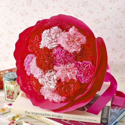 【日比谷花壇】母の日 カーネーションの形をした花束「ペタロ・カーネーション メルシー」