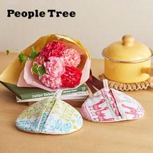 母の日 ピープルツリー「鍋つかみ」と花束のセット