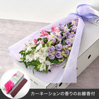 【お供え用】亡き母に贈るボックスフラワー「花はるか」とカーネーションの香りのお線香のセット
