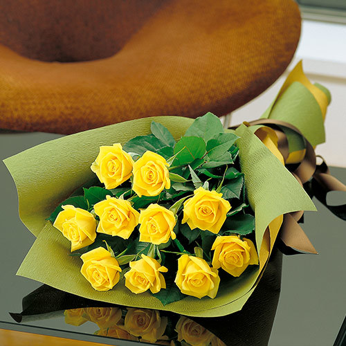<日比谷花壇> 父の日 花束「イエローローズ」