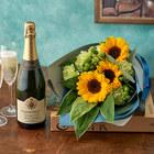 父の日 「セグラヴューダス ブルートヴィンテージ」と花束のセット
