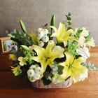 【お供え用】O・SO・NA・E flower 「5月のウッドボックスアレンジメント」