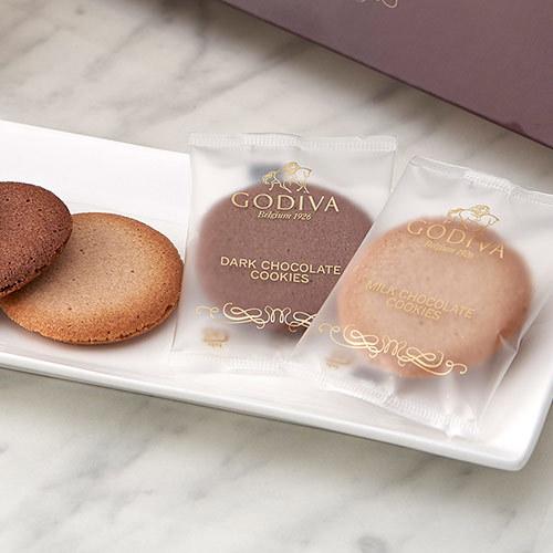 ゴディバ「クッキーアソートメント」とプリザーブドアレンジメントのセット