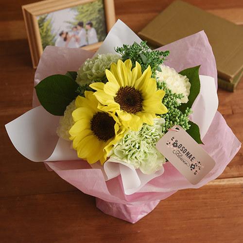 日比谷花壇【日比谷花壇】【お供え用】O・SO・NA・E flower 「7月のそのまま飾れるブーケ」