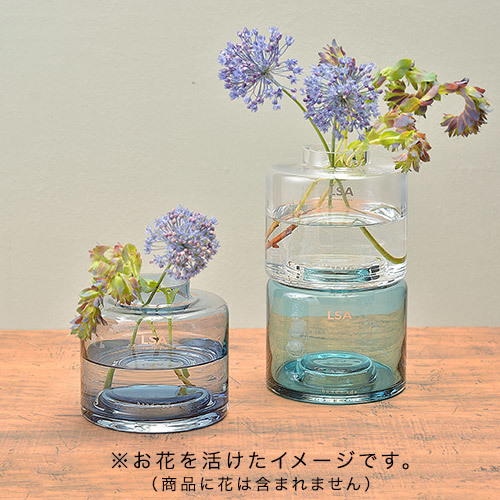 LSAフラワーベース Stack Vase Trio Clear/Blues(TLA2371)