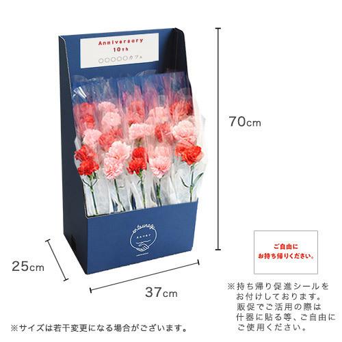 「en-tsunagu」配れるフラワーボックス(赤・ピンク系MIXカーネーション30本)