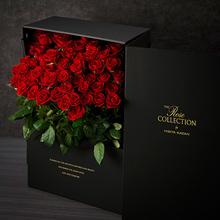 デザイナーズボックスフラワー「ロッソ」(50本)