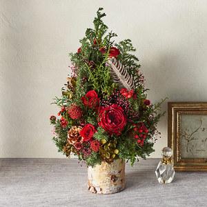 クリスマス プリザーブドツリー「ツリー ド ルージュ」の商品画像