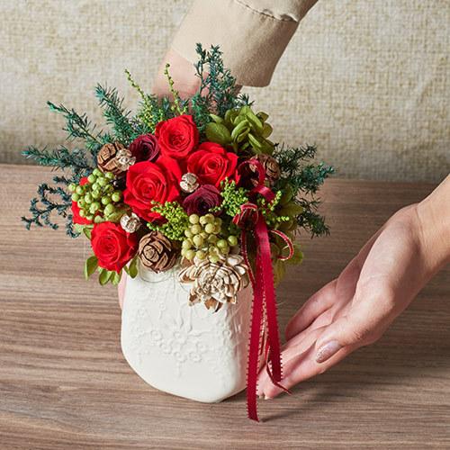 クリスマス プリザーブドアレンジメント「ナターレフィオーレ」