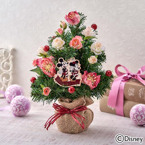 ディズニー クリスマス アーティフィシャルツリー「クリスマスローズ(ミッキー&ミニー)」