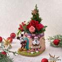 ディズニー クリスマス プリザーブド&アーティフィシャルアレンジメント「ミッキー&ミニー フェット・ドゥ・ノエル」