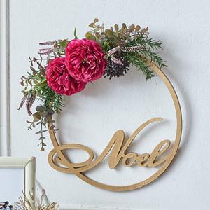 クリスマス アーティフィシャルリース「リース ド ロゼ」の商品画像