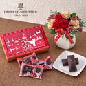 クリスマス アンリ・シャルパンティエ「フィナンシェ・オ・ショコラ」とアレンジメントのセット