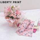 リバティプリント「ミニハンドタオル ジョセフィン(桜柄)」とそのまま飾れるブーケのセット
