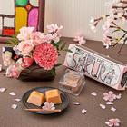 資生堂パーラー「春のチーズケーキ(さくら味)」とアレンジメントのセット