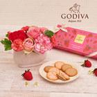 母の日 ゴディバ「あまおう苺クッキー アソートメント」とアレンジメントのセット